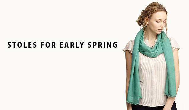 STOLES FOR EARLY SPRINGのセールをチェック