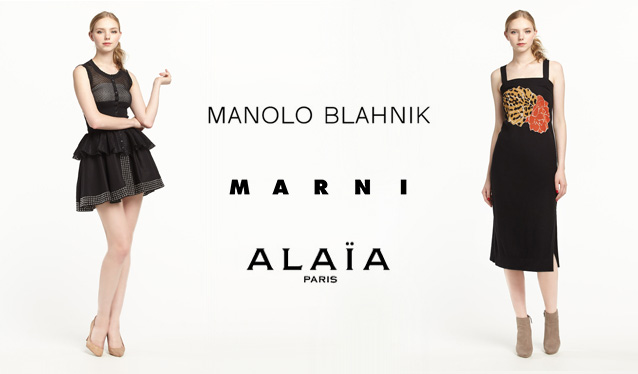 MANOLO BLAHNIK/MARNI/AZZEDINE ALAIAのセールをチェック
