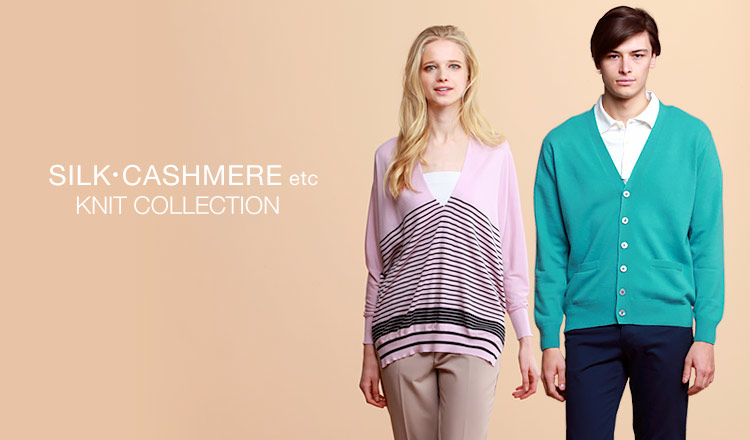 SILK・CASHMERE etc. KNIT COLLECTIONのセールをチェック